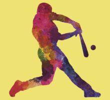 Baseball player hitting a ball Baby Tee