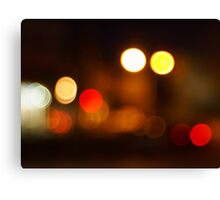 Abstract blurred image of round spots Canvas Print