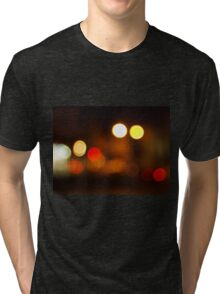 Abstract blurred image of round spots Tri-blend T-Shirt