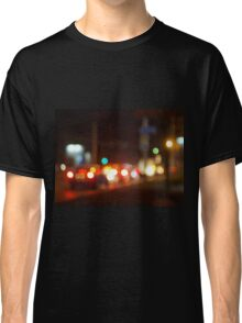 Abstract blur image of a night scene with bright lights Classic T-Shirt