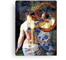 MORNING MEETING WITH MIRROR Canvas Print