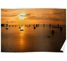 Sunrise on the Delaware Bay Poster