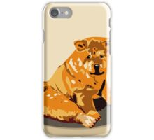 Hand drawn water color illustration of chow chow dog. iPhone Case/Skin