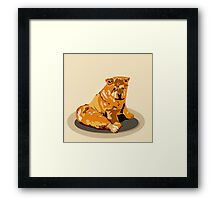 Hand drawn water color illustration of chow chow dog. Framed Print