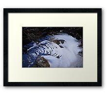 Freezing over Framed Print