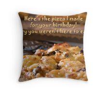 Birthday Pizza Throw Pillow