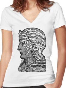 Sivartha Historia Mind Map 1860 Women's Fitted V-Neck T-Shirt