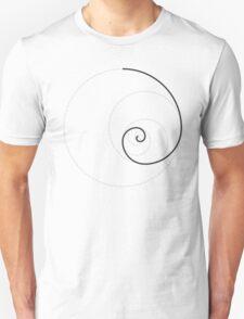 Golden Ratio Spiral - Construction Circles Unisex T-Shirt