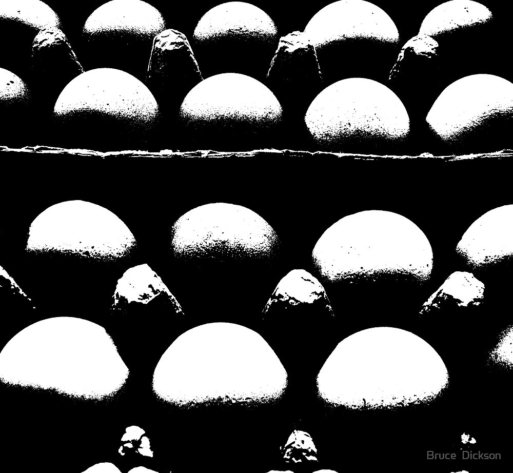 egg abstract by Bruce  Dickson