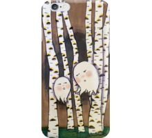Forests Ghosts in the Birch Grove iPhone Case/Skin