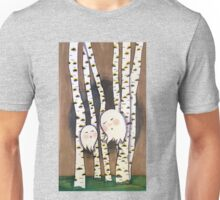 Forests Ghosts in the Birch Grove Unisex T-Shirt