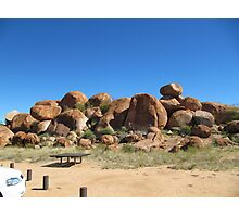 Devils Marbles,overnight stop for travelers,Stuart Hgwy. N.T. Photographic Print