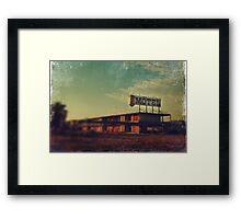 We Met at the Old Motel Framed Print