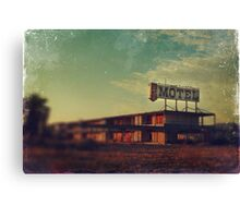 We Met at the Old Motel Canvas Print