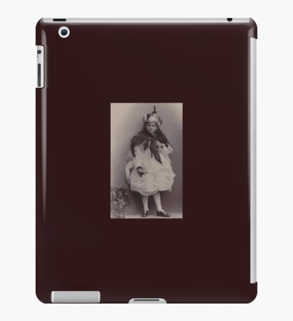 Girl with silly hat iPad Case/Skin