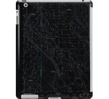 USGS Topo Map Oregon Location Butte 20110818 TM Inverted iPad Case/Skin