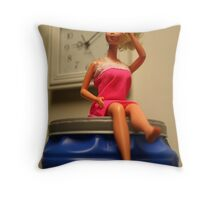 is it time for coffee yet? Throw Pillow