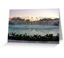 Water Dome, Florida Southern College Greeting Card