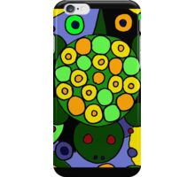 Funky Green Turtle Abstract Art Original iPhone Case/Skin