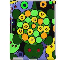 Funky Green Turtle Abstract Art Original iPad Case/Skin