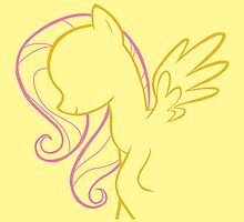 Fluttershy Outline by LcPsycho