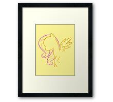 Fluttershy Outline Framed Print