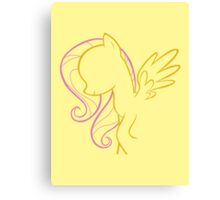 Fluttershy Outline Canvas Print