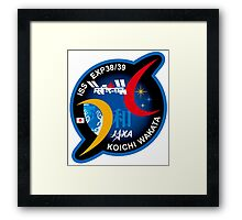 Wakata Personal ISS-39 Patch Framed Print