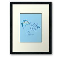 RainbowDash Outline Framed Print