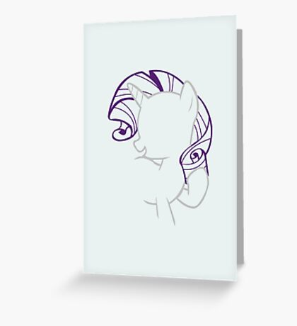 Rarity Outline. Greeting Card