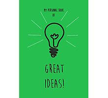 Great Ideas Notebook Green Photographic Print