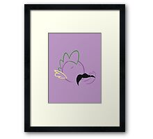 Spike Moustache Outline Framed Print