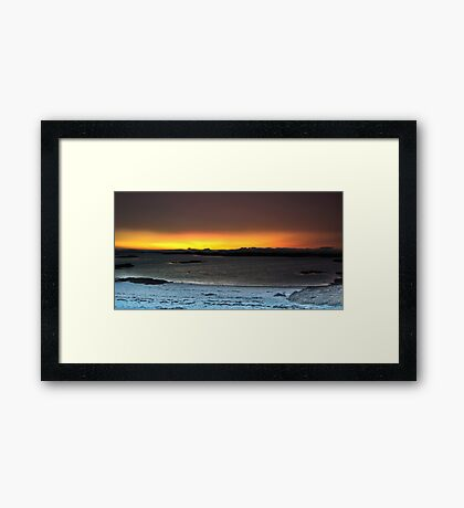 Sunset from Traigh Beach - HDR  Framed Print