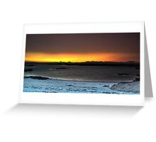 Sunset from Traigh Beach - HDR  Greeting Card