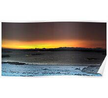 Sunset from Traigh Beach - HDR  Poster