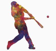 Baseball player hitting a ball One Piece - Short Sleeve