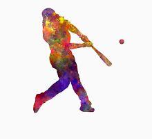 Baseball player hitting a ball Unisex T-Shirt