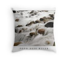 Popo Agie River - Sinks Canyon State Park, Wyoming Throw Pillow