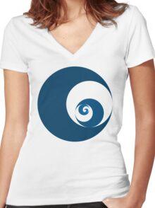 Golden Ratio Cutout Circles Women's Fitted V-Neck T-Shirt