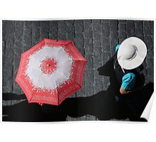 Umbrella and Hat, Arequipa Poster