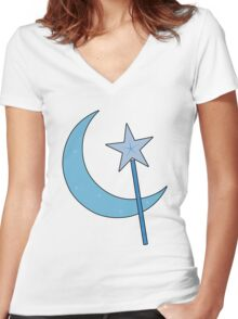 Great and Powerful! (Outline) Women's Fitted V-Neck T-Shirt