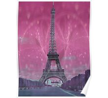 Romantic evening in Paris Poster