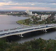 Narrows Bridge, Swan River, Perth  by DashTravels