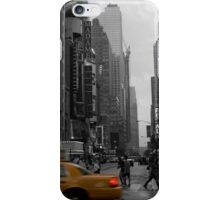new york taxi iPhone Case/Skin