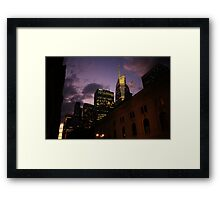 Sunset over Bryant Park Framed Print