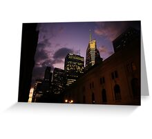 Sunset over Bryant Park Greeting Card