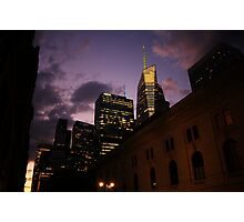Sunset over Bryant Park Photographic Print