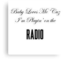 Lana Del Rey Radio Canvas Print
