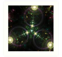 Tri Space Flux Art Print