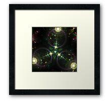 Tri Space Flux Framed Print